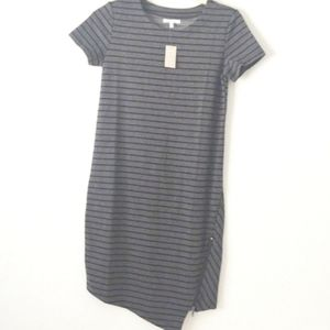 Maurices Striped Dress Gray XS